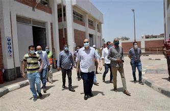 محافظ أسيوط يتفقد سير العمل بمحطة رفع صرف صحي صدفا والغنايم | صور