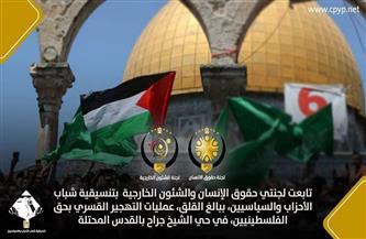 تنسيقية شباب الأحزاب والسياسيين تطالب بالوقف الفوري لانتهاكات قوات الاحتلال بحق الفلسطينيين