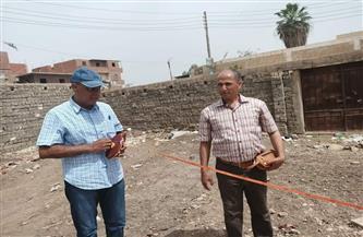 """رئيس مركز الشهداء يتابع تنفيذ مشروعات """"حياة كريمة""""  صور"""