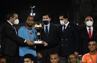 وزير الرياضة يشهد نهائي كأس مصر للميني فوتبول | صور
