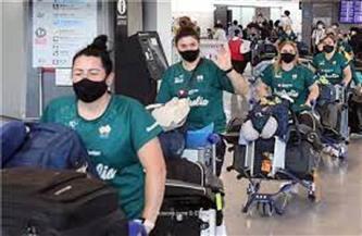 منتخب الكرة اللينة الأسترالي أول فريق يصل إلى اليابان استعدادا لخوض الأولمبياد