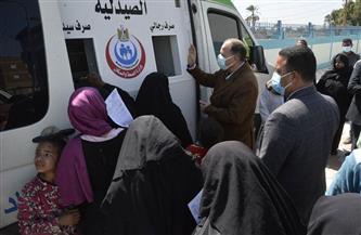 «الداخلية» توجه قافلة خدمية وإنسانية لعدة قرى ببني سويف