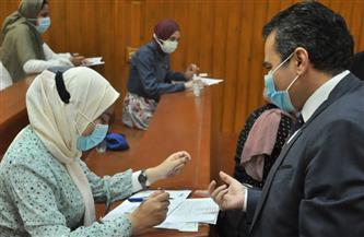 رئيس جامعة كفرالشيخ يتابع سير امتحانات الترم الثاني بكليتي العلاج الطبيعي والتمريض | صور