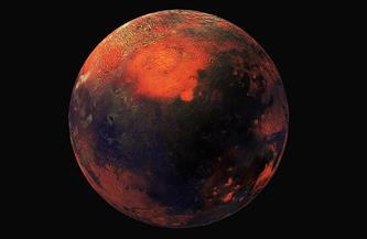هالة هيدروجينة يلتقطها مسبار الأمل الإماراتي للكوكب الأحمر