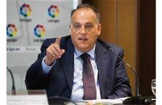 رئيس رابطة الليجا يحذر ريال مدريد وبرشلونة من الاستبعاد الأوروبي