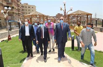 محافظ المنوفية يتفقد التجهيزات النهائية لحديقة تحيا مصر ومكتب بريد قويسنا | صور وفيديو