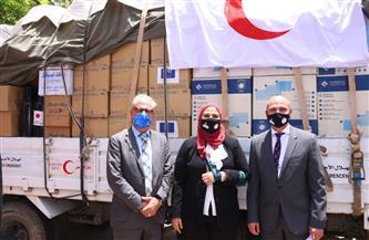 القباج: إطلاق قافلة مساعدات للفلسطينيين تنفيذا لتوجيهات الرئيس السيسي|صور