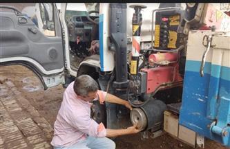 مياه سوهاج تجري أعمال الصيانة الشاملة لجميع معدات التشغيل |صور