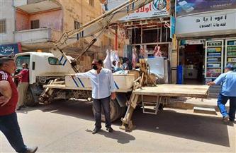 إزالة 15 إعلانًا بمدينة الباجور بالمنوفية | صور