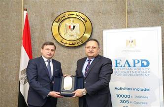 الوكالة المصرية للشراكة من أجل التنمية تبحث فرص التعاون الثلاثي في إفريقيا مع وفد مجري   صور