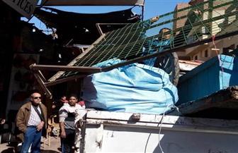 رفع 35 حالة إشغال طريق من شوارع الجمرك بالإسكندرية