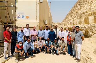 """""""وزيري"""" يتفقد مشروعي مركب خوفو الأولى والثانية بمنطقة أهرامات الجيزة"""