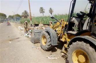 مركز الغنايم يشن حملات لتمهيد الشوارع ورفع القمامة والمخلفات  صور