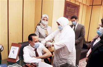 """""""صحة"""" المنوفية: تطعيم 241 من العاملين بالمحكمة الابتدائية في شبين الكوم بلقاح «كورونا»  صور"""