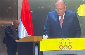 «شكري» يؤكد أن مصر كانت ولاتزال تبذل جهودًا حثيثة لتحقيق التنمية المنشودة في إفريقيا   صور
