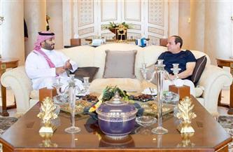 الرئيس السيسي يلتقي الأمير محمد بن سلمان في شرم الشيخ