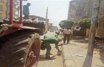 حملات مكثفة للنظافة بمركز الشهداء بالمنوفية صور