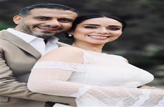 على طريقة عبد الحليم حافظ وشادية.. محمد فراج وبسنت شوقي يحتفلان بعقد قرانهما| صور وفيديو