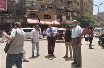 رئيس حي دار السلام يتفقد تطوير ميدان المطبعة وشارع حسنين دسوقي