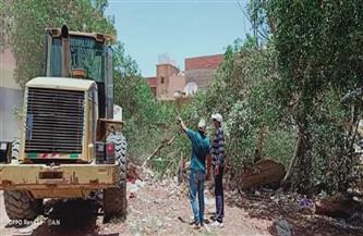 حملة لإزالة التعديات على أملاك الدولة بمدينة رأس غارب  صور