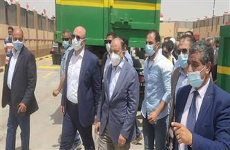 وزير التنمية المحلية ومحافظ بني سويف يتفقدان المحطة الوسيطة بناصر |صور