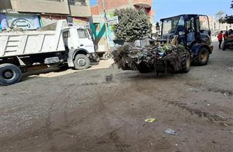 رفع 10 آلاف طن قمامة وإزالة 931 حالة إشغالات متنوعة في الفيوم | صور