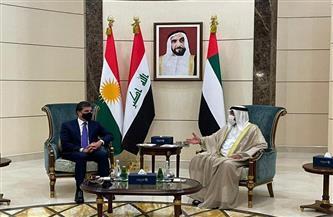 بن زايد وبارزاني يناقشان التعاون المشترك بين الإمارات وكردستان