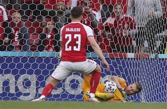 هويبيرج يُضيع ركلة جزاء للدنمارك أمام فنلندا فى «يورو 2020»