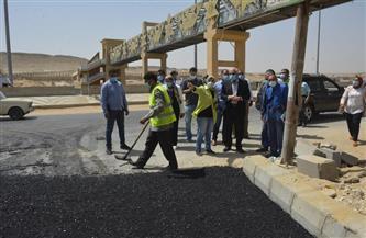 محافظ الجيزة يتفقد أعمال رصف وتطوير طريق التجنيد بتكلفة 25 مليون جنيه |صور