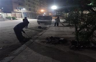 متابعة سير العمل بمنظومة النظافة ليلا بشوارع وأحياء مدينة دسوق بكفرالشيخ   صور