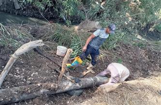متابعة إصلاح خط الطرد بقرية كفر الخير وتسليك خطوط الصرف بمحلة دياى بكفرالشيخ   صور