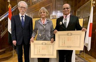 اليابان تتوج فايزة أبو النجا والسفير هشام الزميتي بوسام الشمس المشرقة