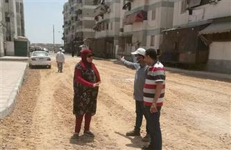 محافظ بورسعيد: استمرار أعمال رصف الطرق بمنطقة فاطمة الزهراء بالضواحي | صور