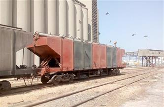 ميناء الإسكندرية: خروج قطار مكون من 24 عربة محملة بالقمح متجهًا إلى شبرا