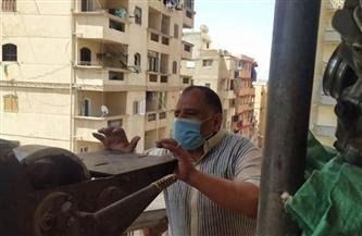 إيقاف أعمال بناء مخالف بعقار بحي الجمرك بالإسكندرية- صور