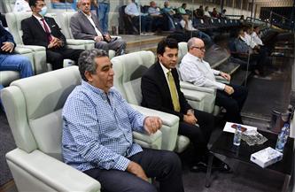 وزير الرياضة يشهد مباراة المنتخب الأوليمبي أمام جنوب إفريقيا