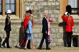بايدن وقرينته يصلان قلعة وندسور للقاء ملكة بريطانيا
