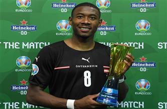 «ألابا» يحصد جائزة أفضل لاعب فى مباراة النمسا ومقدونيا الشمالية