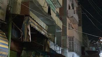 سقوط شرفة عقار بدكرنس.. والإدارة الهندسية: صادر له قرار إزالة