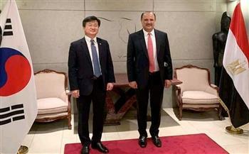 السفير المصري في سول يستقبل وزير تدبير الاحتياجات الدفاعية الكوري   صور