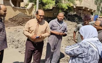 رئيس مدينة بيلا يشرف على معالجة الهبوط الأرضي بشارع 23 يوليو | صور