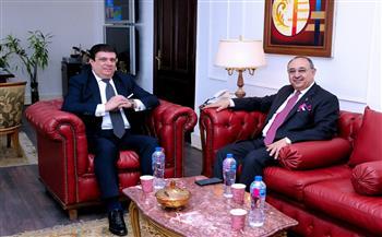 حسين زين يلتقى وزير الدولة لشئون الإعلام الأردنى لمناقشة مقترح إنتاج عمل درامي يؤرخ تاريخ البلدين