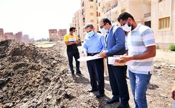 محافظ الغربية يتفقد موقع إنشاء ٦ عمارات بالعجيزى فى طنطا | صور
