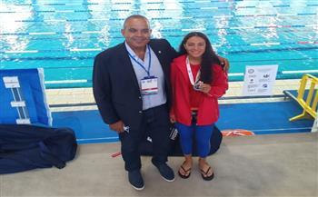 ندا مجدي تفوز بفضية بطولة العالم للناشئين للسباحة بالزعانف في إيطاليا