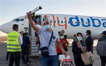 مطار شرم الشيخ يستقبل أولى الرحلات الجوية لشركة Fly Dubai القادمة من دبي