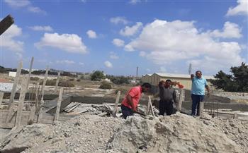 إيقاف أعمال البناء المخالف بـ3 عقارات بغرب الإسكندرية |صور
