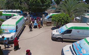 """صحة المنيا تنظم قافلة طبية بقرية منشأة الدهب القبلية ضمن أعمال """"حياة كريمة"""""""