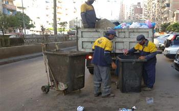 رفع 11 طن مخلفات وقمامة من شوارع وميادين حي الجمرك بالإسكندرية |صور