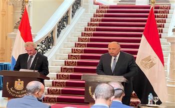وزير الخارجية: مصر ولوكسمبورج لديهما رؤية متوافقة فيما يخص القضية الفلسطينية