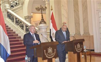 شكري: ناقشت مع وزير خارجية لوكسمبورج تعزيز التعاون الاقتصادى والسياسي بين البلدين